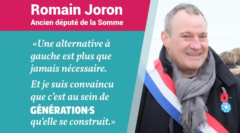 Romain Joron rejoint Génération.s